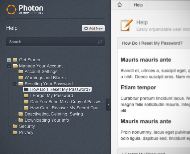 Photon UI Responsive Admin Panel Theme
